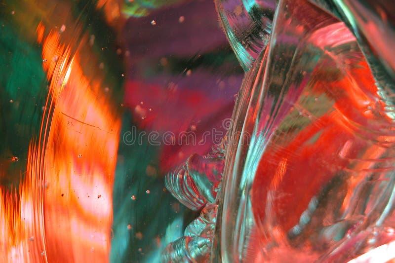 Abrégé sur 9 en verre fondu photographie stock libre de droits