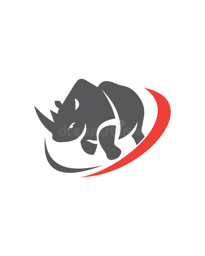 Abrégé sur abstrait assurance commerciale de vecteur de rhinocéros photographie stock libre de droits