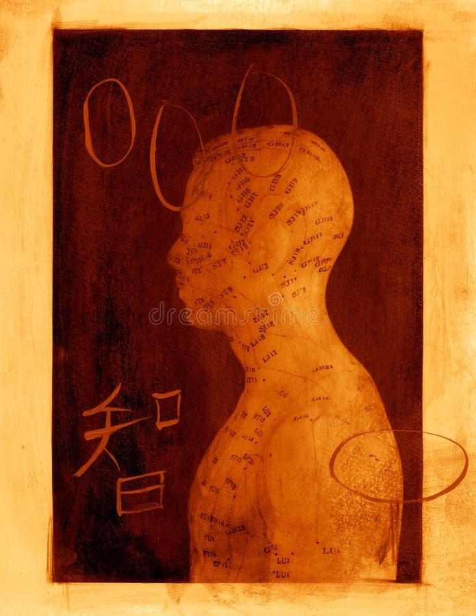 Abrégé sur acuponcture illustration de vecteur