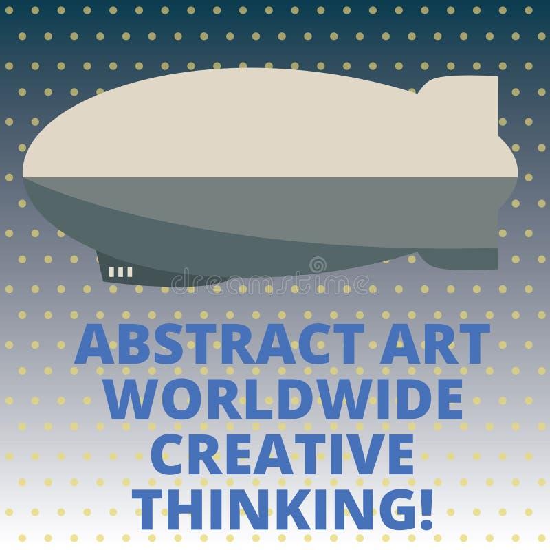 Abrégé sur Art Worldwide Creative Thinking les textes d'écriture De concept de signification d'inspiration missile moderne de tor illustration libre de droits