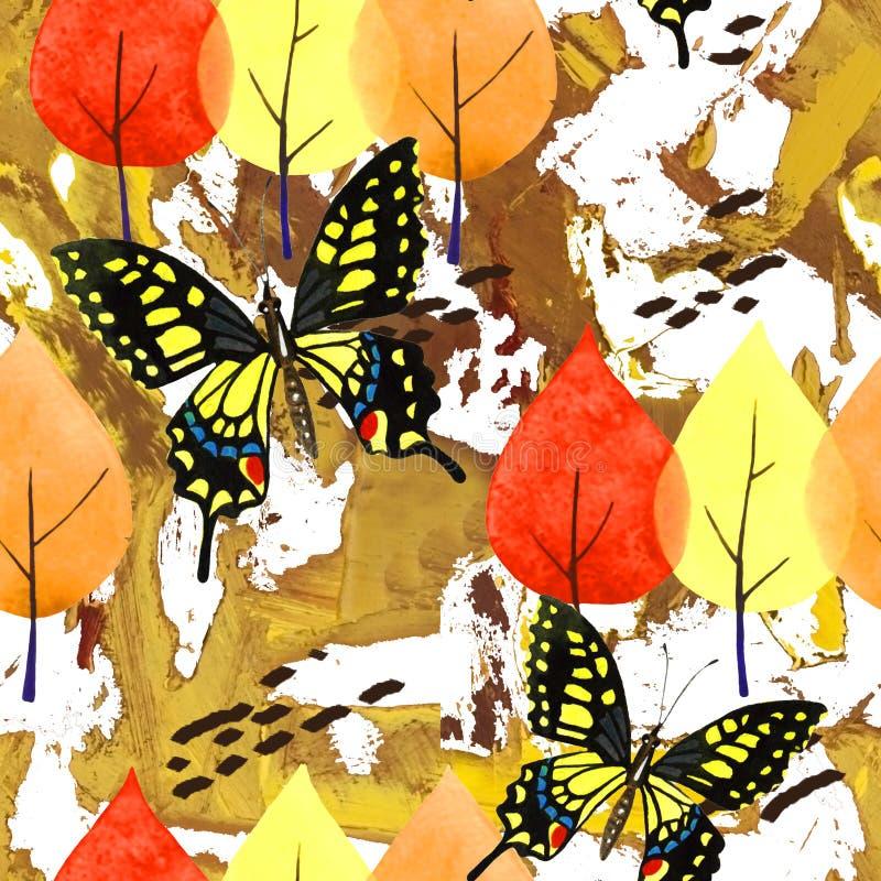 Abrégé sur automne d'aquarelle photographie stock libre de droits