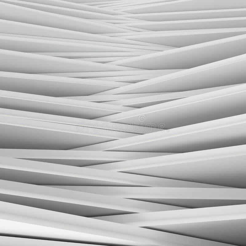 Abrégé sur blanc coins illustration de vecteur
