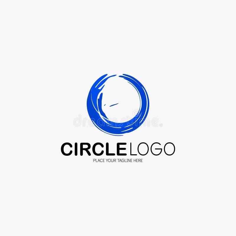 Abrégé sur bleu logo d'eau de mer image libre de droits