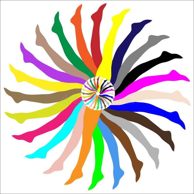 Abrégé sur coloré les pattes des femmes illustration libre de droits