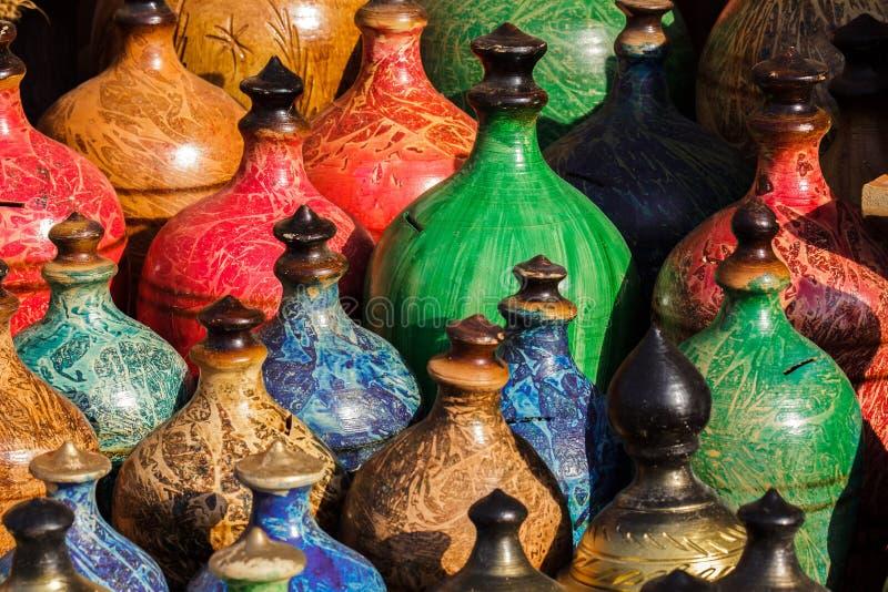 Abrégé sur coloré pots photo stock