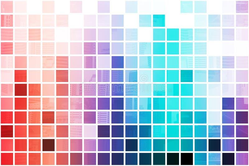 Abrégé sur coloré simpliste et minimaliste illustration stock
