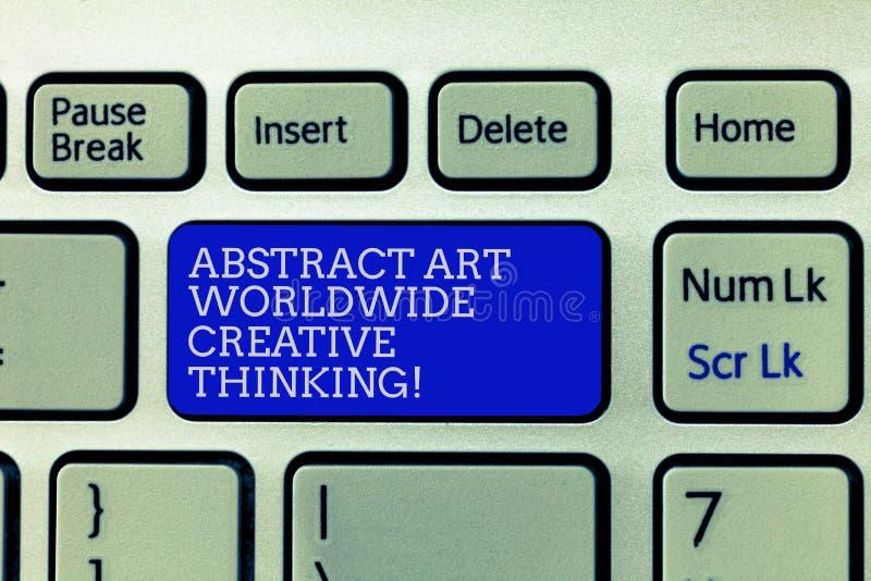 Abrégé sur conceptuel Art Worldwide Creative Thinking apparence d'écriture de main Photo d'affaires présentant l'inspiration mode illustration de vecteur