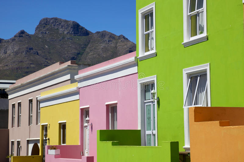 Abrégé sur cottage de la BO Kaap photographie stock libre de droits