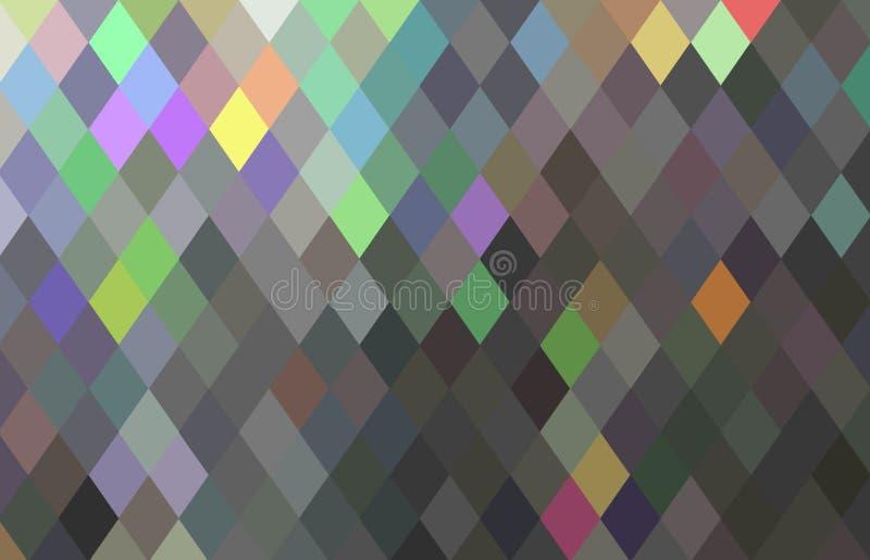 Abrégé sur cristal simple texture de diamant Mosaïque vert-bleu grise de gradient d'hologramme géométrique illustration de vecteur