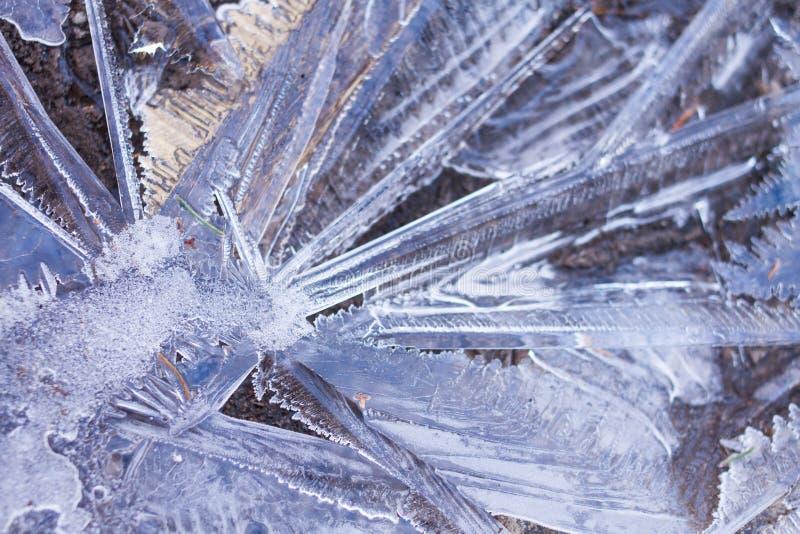Abrégé sur cristaux de glace photographie stock