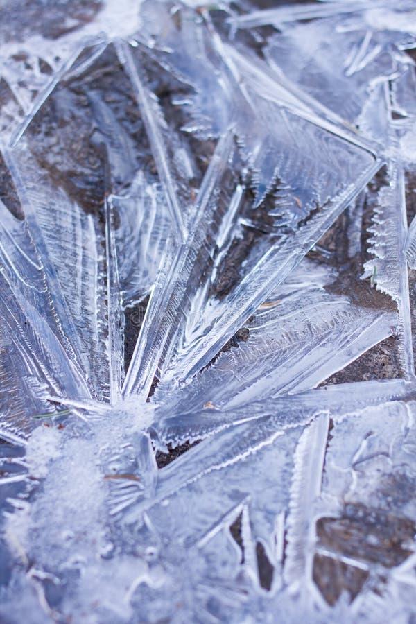 Abrégé sur cristaux de glace images stock