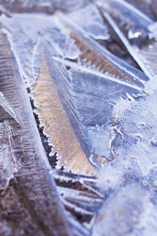 Abrégé sur cristaux de glace photos libres de droits