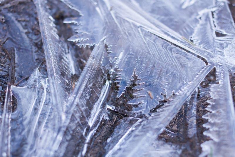 Abrégé sur cristaux de glace photo stock