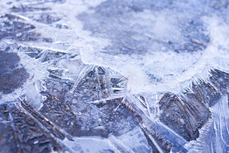Abrégé sur cristaux de glace images libres de droits