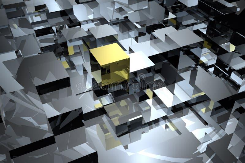 Abrégé sur cubes illustration de vecteur