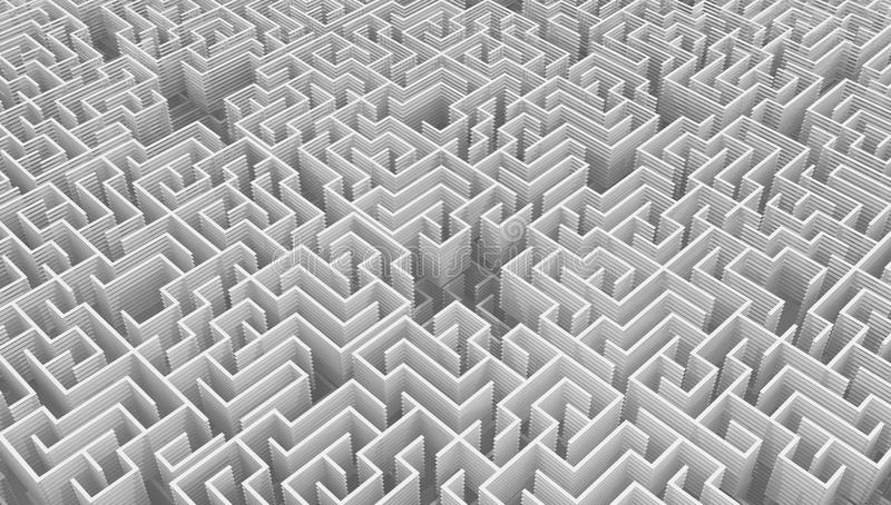 Abrégé sur découpé en tranches blanc dense labyrinthe illustration de vecteur