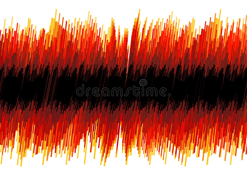 Abrégé Sur Déformé Rouge Oscilloscope Image stock