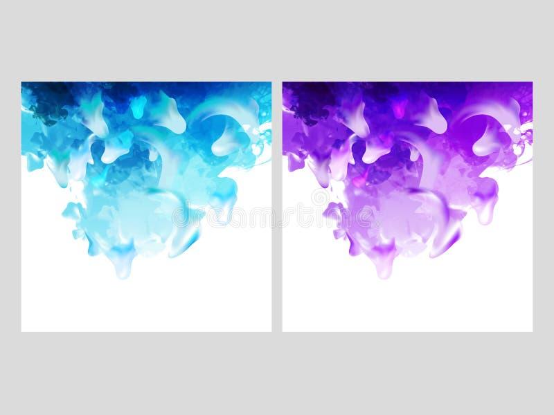 Abrégé sur de dissolution aquarelle dans l'option de deux couleurs illustration libre de droits