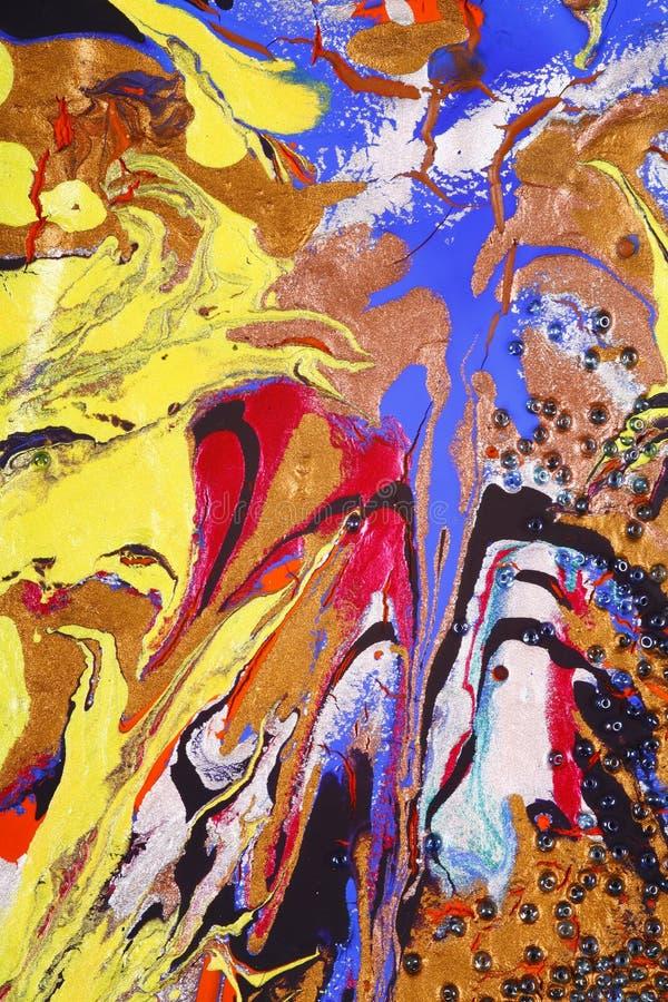Abrégé sur de mélange peintures   photo libre de droits