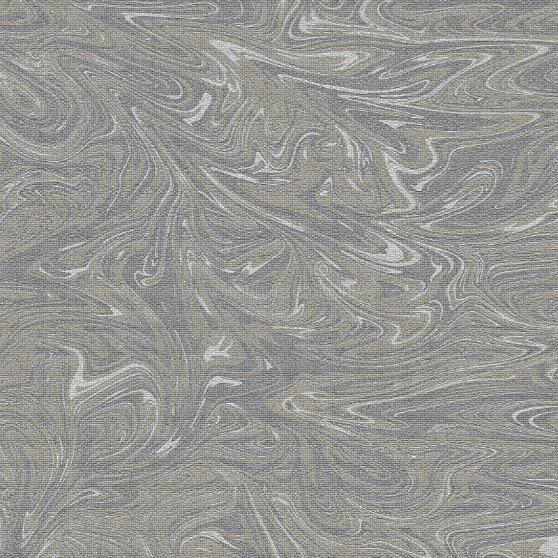 Abrégé sur de marbre modèle d'ondulation un fond crylic Marbrure de ton de gris et de couleur d'or photo libre de droits