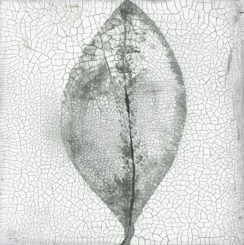 Abrégé sur de texture Zen Painting feuille criquée images libres de droits