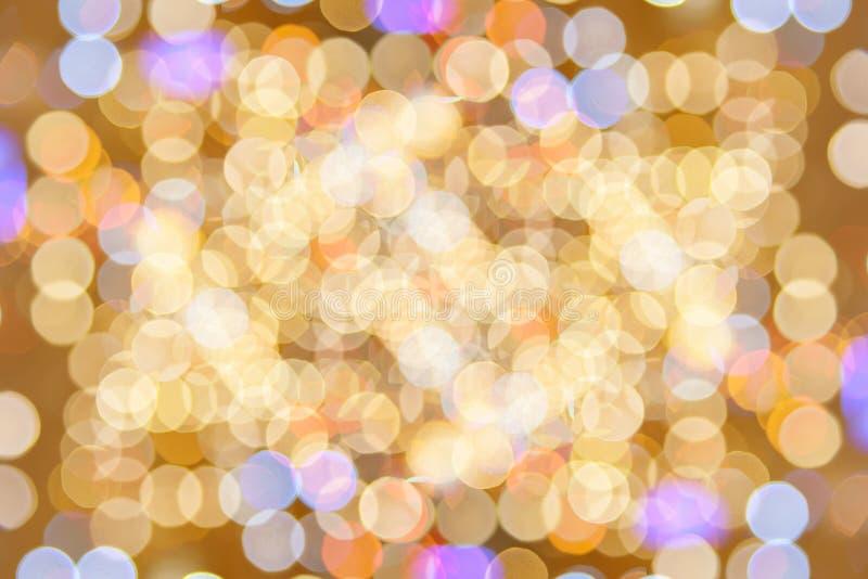 Abrégé sur defocused lumières de scintillement de bokeh de Colorfull images libres de droits