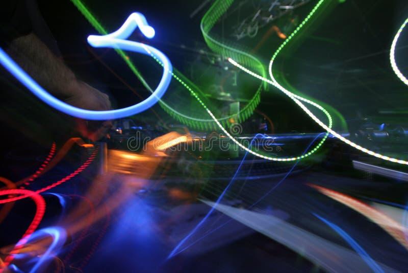 Abrégé sur du DJ et les lumières photo stock