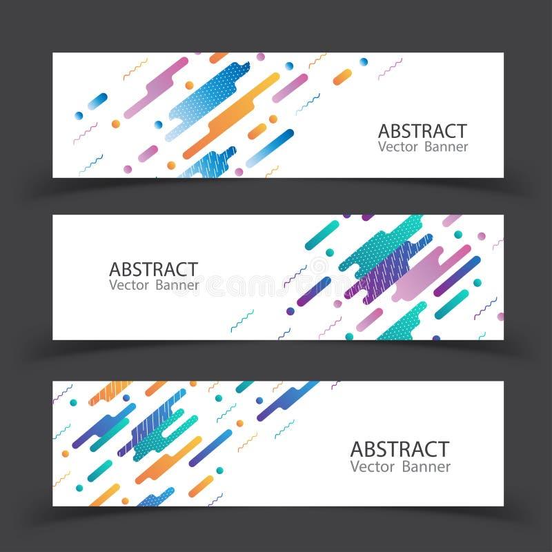 Abrégé sur dynamique coloré bannière Illustration de vecteur illustration stock