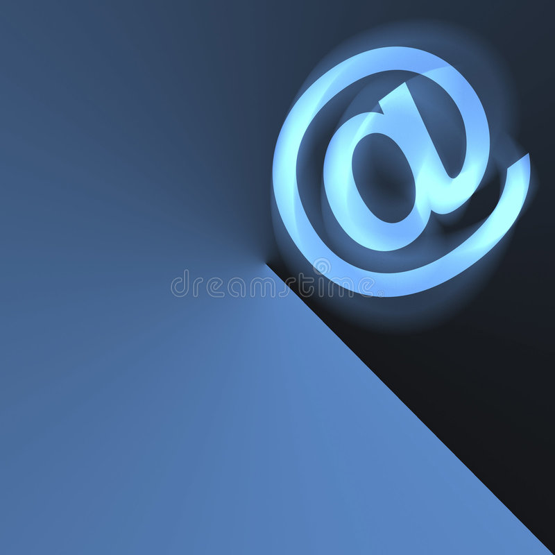 Abrégé sur email illustration de vecteur