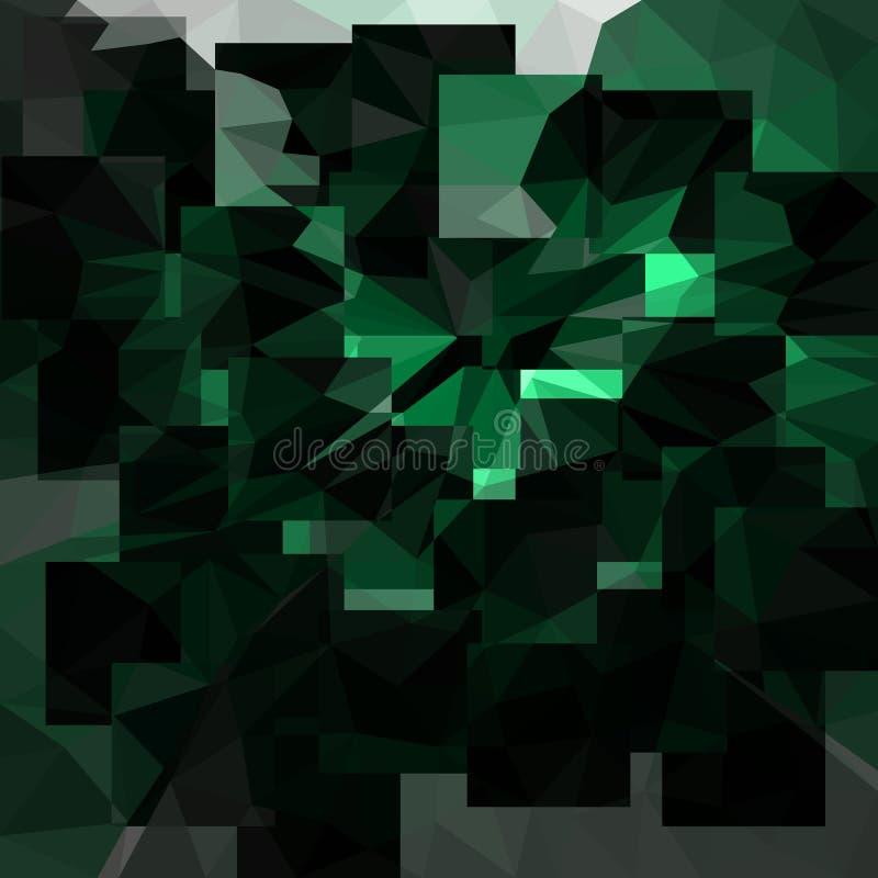 Abrégé sur Emerald Background vecteur avec des triangles illustration de vecteur