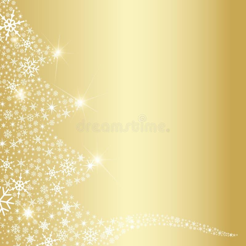 Abrégé sur flocons de neige d'arbre de Noël illustration stock