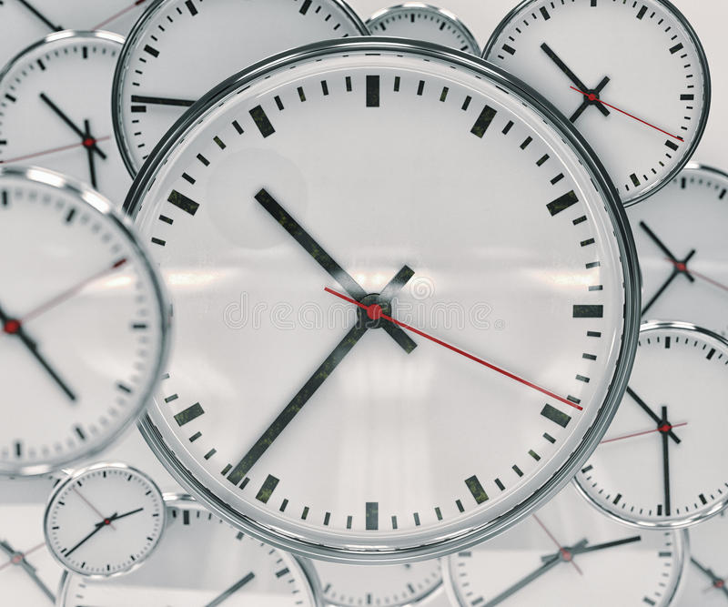 Abrégé sur fond d'horloge photographie stock libre de droits