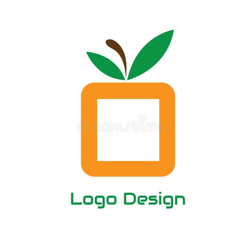 Abrégé sur fruit de place de conception de logo de vecteur pour des affaires de logo d'utilisation illustration libre de droits