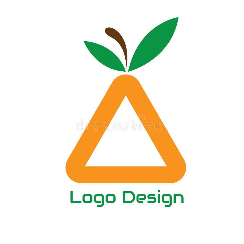 Abrégé sur fruit de triangle de conception de logo de vecteur pour des affaires de logo d'utilisation illustration libre de droits