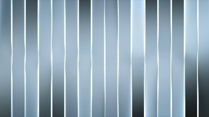 Abrégé sur gris au néon 3D barres verticales rendre l'illustration illustration libre de droits