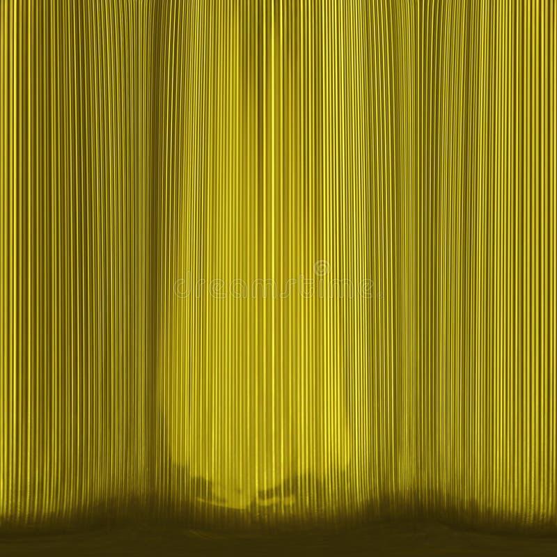 Abrégé sur jaune théâtre-rideau photos stock
