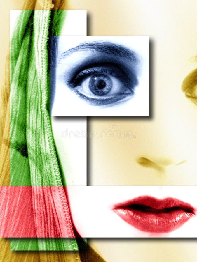 Abrégé sur jeune femme de visage   illustration libre de droits
