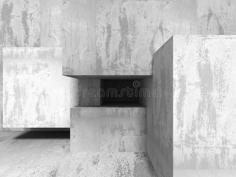 abrégé sur l'architecture 3D Fond de mur en béton illustration libre de droits