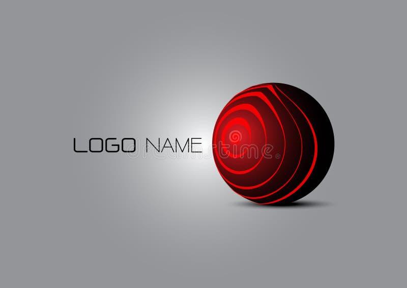 abrégé sur le logo 3D image libre de droits