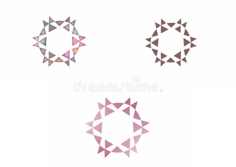 Abrégé sur logo d'étoiles pour des sociétés illustration de vecteur