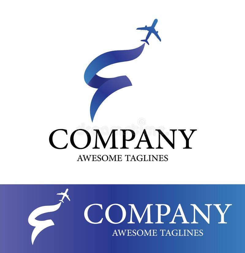 Abrégé sur Logo Design Template avion Conception plate de style Illustration de vecteur illustration libre de droits