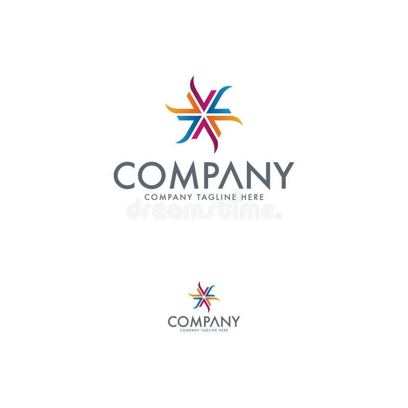 Abrégé sur Logo Design Template Colorfull illustration libre de droits