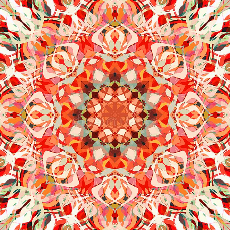 Abrégé sur Mandala Background florale colorée peinture de Digital illustration libre de droits