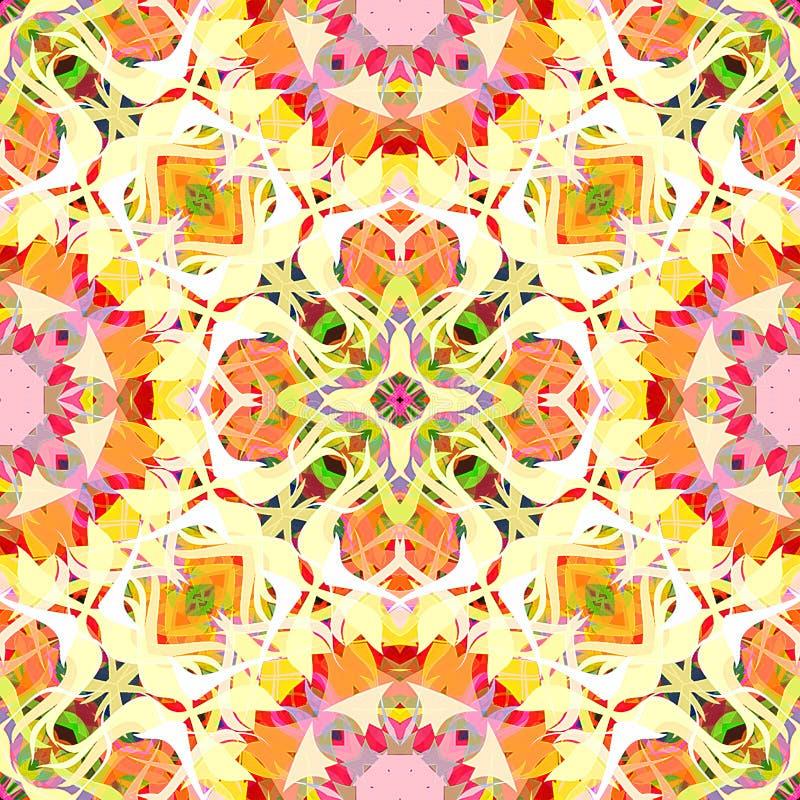 Abrégé sur Mandala Background florale colorée peinture de Digital illustration libre de droits