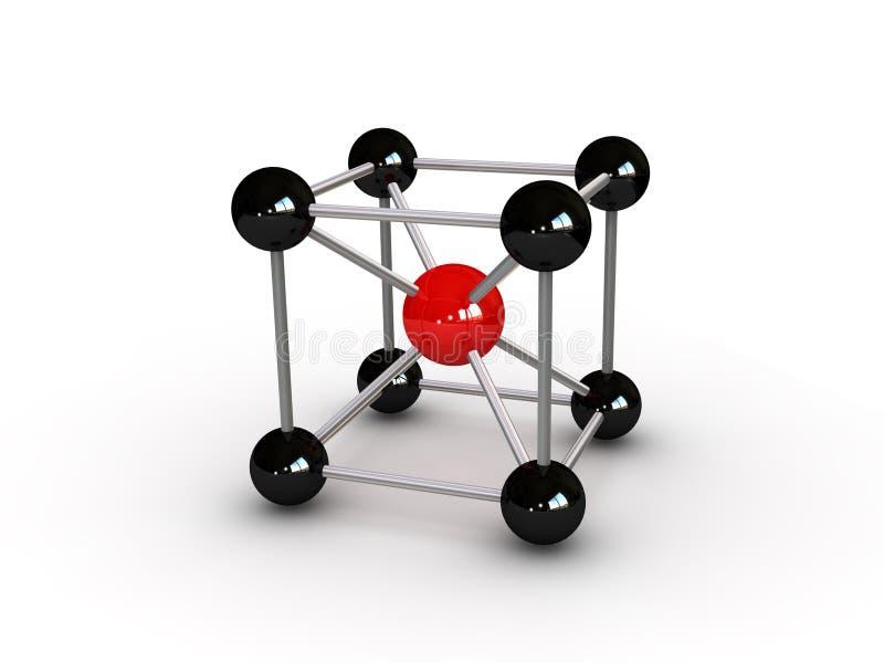 Abrégé sur molécule illustration stock