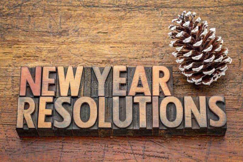 Abrégé sur mot de résolutions de nouvelle année photos stock