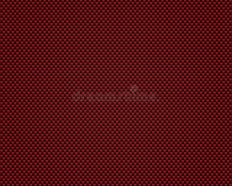 Abrégé sur noir et rouge modèle en métal de carbone illustration de vecteur