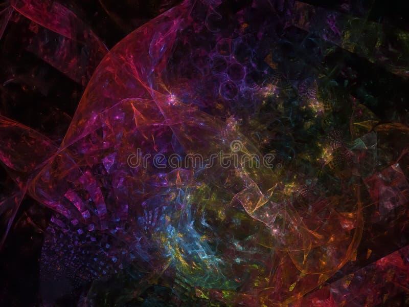 Abrégé sur numérique abstrait fractale de fractale numérique, disco, affaires, la publicité, photos libres de droits