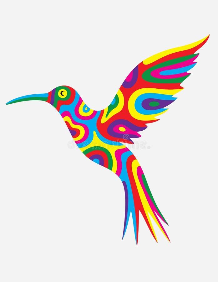 Abrégé sur oiseau de ronflement coloré illustration de vecteur