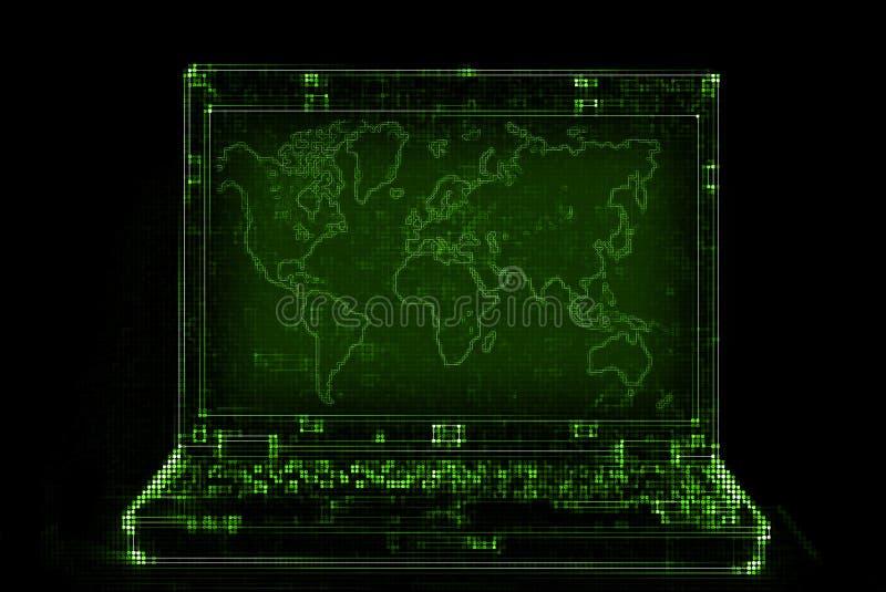 Abrégé sur ordinateur portatif illustration stock